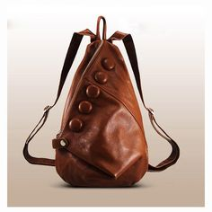 Fashionable backpack leather girls Women Bag travel door Love1220, $88.00