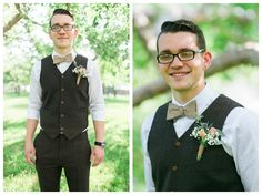 bow tie and vest groom