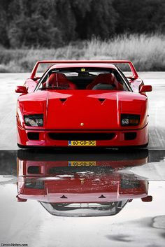 If I could drive only one dream car once in my life it would be this Ferrari F40... the raw essence of an Italian car made with fire and passion rather than computers and bottom lines. No bells, no whistles... Just for wheels and a turbo charged race tuned engine screaming behind you.