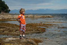 Lachlan enjoying the beach & tidal pools on Newcastle Island, Nanaimo, BC San Juan Islands, Vancouver Island, First Nations, Newcastle, Coastal, Sea, Explore, Inspiration, Biblical Inspiration