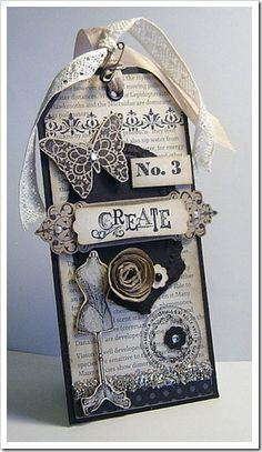 The neutrals & textures make this tag a perfect standalone or addition to any page.