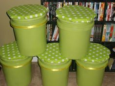 Classroom Stools made from paint buckets - Reading groups, peer conferencing, reward seating, etc.