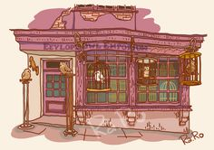 Diagon Alley: Eeylops Owl Emporium by RaRo81.deviantart.com on @DeviantArt
