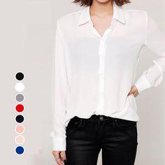 Women Long Sleeve Chiffon Blouse Shirt New 2015 Autumn Woman Fashion Clothes Casual Blouses Ladies Top Blusas Camisas Femininas