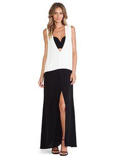 Shona Joy Bauhaus Spliced Maxi Dress in Black & White   REVOLVE