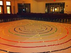 How to DIY your own canvas labyrinth from painters' drop cloths