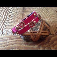 "Selling this ""Bougainvillea Pink wrap Peace Bling bracelet"" in my Poshmark closet! My username is: ursulakoenig. #shopmycloset #poshmark #fashion #shopping #style #forsale #Jewelry"