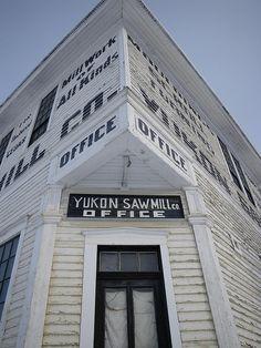 Commercial Entrance.  Yukon Sawmill Building, Dawson City, Yukon Territory, Canada.
