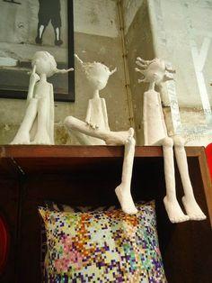 De douces sculptures en papier mâché ! http://www.mariarita.com/