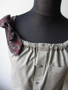Upcycled Clothing - Boyfriend Tank Top - this makes me want to go thrift shopping for men's clothes!!!