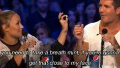 Haha! Demi Lovato and Simon Cowel last year's X Factor