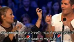 Haha! Demi Lovato and Simon Cowel last year's X Factor