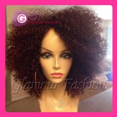 GQ Gorgeous curly 130% Glueless Full Lace Wigs Brazilian lace front wigs short human hair wig black women kinky curly afro wig(China (Mainland))