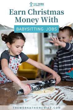 Earn Christmas money with babysitting jobs. Looking to earn more money to spend this holiday season? Check out our tips to getting your babysitting job started. | The Work at Home Wife