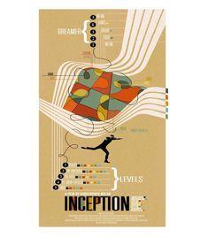 An alternative movie poster for the film Inception, created by Adam Juresko, featured on AMP. Minimal Movie Posters, Minimal Poster, Movie Poster Art, Film Posters, Movie Collage, Leonardo Dicaprio, Nolan Film, Plus Tv, Cinema