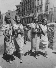 Republican Soldiers during Spanish Civil War 1930s Spain. by Unknown Artist