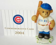 Heidi's Cherished Teddies Gallery: CLARK ADDISON - 5th In The Series Of Chicago Cubs - Home Sweet Home (4001005)