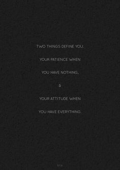 two things define you. #quote #onpoint
