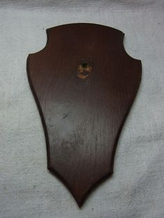 Vintage German Wood Trophy Plaque for Taxidermy / Deer Antler # 5