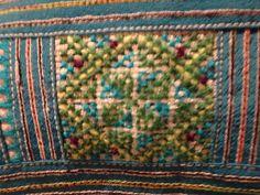 Modern Vietnamese purse showing cross stitch embroidery 10.1.14