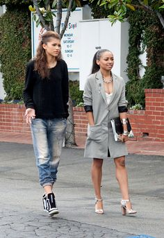 Zendaya- She's gonna be such the fashionista when she gets older. Love her style!