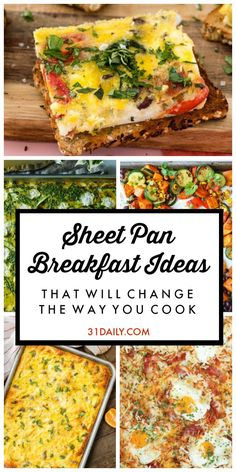 Sheet Pan Breakfast Ideas That Will Change the Way You Cook - 31 Daily - Easy Breakfast Ideas - Quick and Healthy Breakfast Recipes Breakfast For A Crowd, Breakfast Dishes, Breakfast Recipes, Breakfast Casserole, Overnight Breakfast, Breakfast Pizza, Fun Breakfast Ideas, Group Breakfast, Brunch Ideas For A Crowd