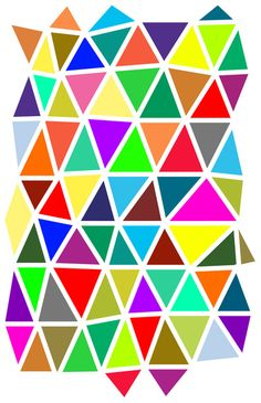 Scattered Triangles Art Print