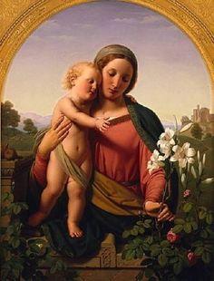 Ernst Deger, (1809–1885): María y el Niño, 1855.