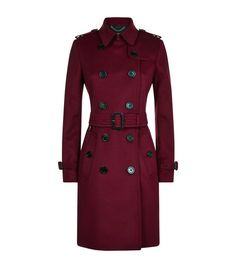 BURBERRY Kensington Wool-Cashmere Mid-Length Trench Coat. #burberry #cloth #