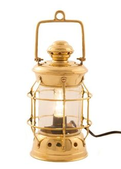 "Brass Admiral Nelson Electric Lamp 11"" - - Nautical Decorative Gift Solid Brass Home Nautical Decor"
