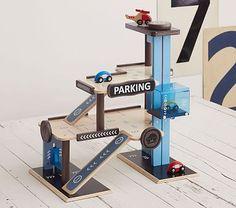 Wooden Play City Garage #pbkids
