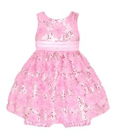 Another great find on #zulily! Ice Pink Sequin Flower Dress & Bloomers by American Princess #zulilyfinds
