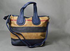 Edle Handtasche mit Streifen - Hochwertig