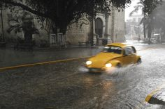 Yellow Beetle in the streets of Merida (Mexico 2008)
