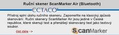 Ruční skener ScanMarker Air nabírá novou dimenzi, možnosti využití jsme rozšířili. Do dnešního dne jste tento skener mohli využívat pro skenování do PC, ale vše je jinak! Skener lze připojit k mobilním telefonům, tabletům a veškerému zařízení s OS Android a iOS. Jednoduše Vám nastíním situaci, potřebujete přepsat informace v tištěné podobě na datový nosič a tato data přenést do PC. Jednoduše libovolný text naskenujete do mobilního telefonu a uložíte... Ios