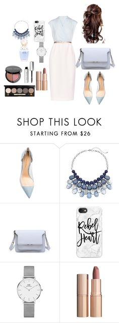 """Baby blue style"" by alifializa ❤ liked on Polyvore featuring Ted Baker, Gianvito Rossi, Casetify, Daniel Wellington, Marc Jacobs, Charlotte Tilbury and Bobbi Brown Cosmetics"