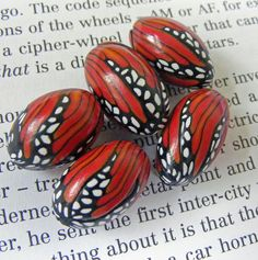 Butterfly Wing Beads, by Pips Jewellery Creation via Flickr.