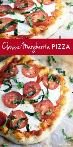 Made with fresh marinara sauce, mozzarella cheese, and basil, Margherita pizza is simple, classic, so easy, and absolutely delicious!