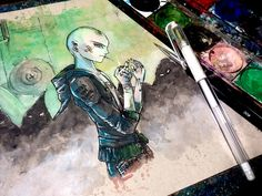 Lord Voldemort - Time Lapse Watercolor Painting - ALTERNATIVE SERIES