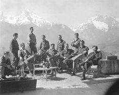 Dick Winters and Easy Company at the Eagle's Nest, Hitler's residence. Band of Brothers.