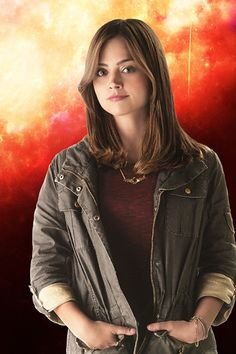 Clara Oswald throughout the entire episode I couldn't stop staring at the jacket.  I want that jacket lol :P