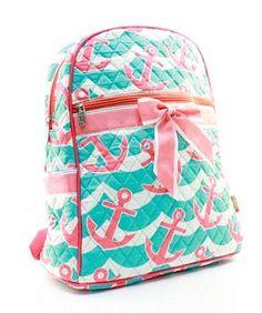 20989ac61680 Items similar to Splash Anchor Backpack Bookbag FREE Personalization Asst  Colors Dance Bag Cheer Bag Diaper Bag School Backpack Birthday Flower Girl  Gift on ...