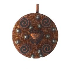 COPPER HEART Orgonite Pendant, Orgone Energy Pendant, Copper Heart, Copper Swirls, Steel BBs, Copper Micro Metal Beads, Copper Bail by AttunementShop on Etsy