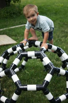 pvc pipe kids climber idea