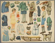 78.14126: paper doll | Paper Dolls | Dolls | National Museum of Play Online Collections | The Strong Gertrud Caspari