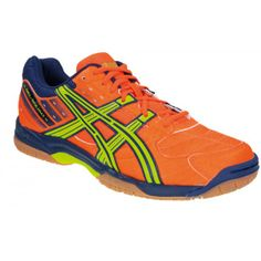 Asics Gel Squad Handballschuh Neon Orange Lime