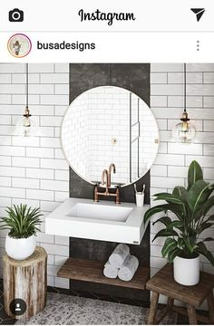 Außergewöhnliche weiße Badezimmerideen Home Design - home decor diy Exceptional white bathroom ideas home design ideas Budget Bathroom, Bathroom Inspo, Bathroom Inspiration, Small Bathroom, Diy Bathroom, Bathroom Plants, Floating Bathroom Sink, Design Bathroom, Bathrooms With Plants