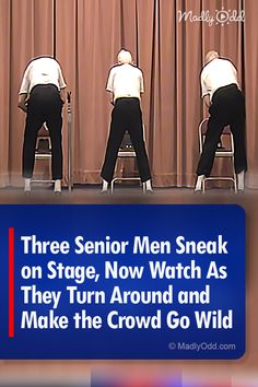 Three senior gentlemen give their nursing home audience a performance to remember and the world a video that went viral. They might not be moving fast, but boy, they are still moving. Country Music Videos, Dance Music Videos, Music Songs, Funny Video Memes, Videos Funny, Got Talent Videos, Senior Humor, Cool Dance Moves, Dance Routines