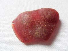Large curved red sea glass found on the East coast of england by UKSeaGlassStore on Etsy