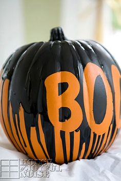 Dripping Paint Pumpkin
